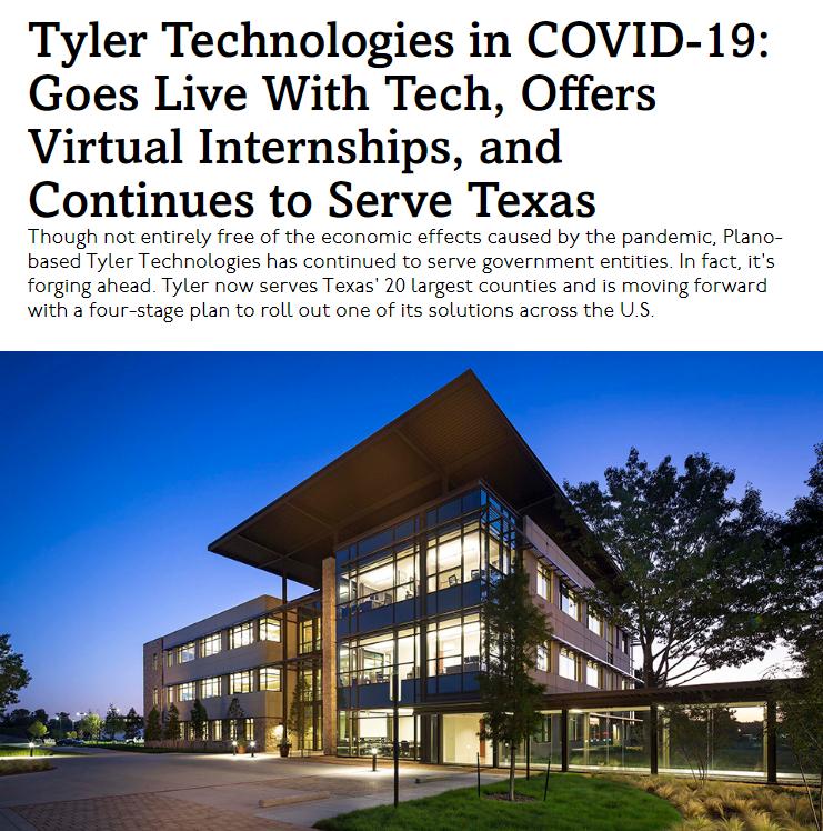 Tyler Tech Article - Dallas Innovates