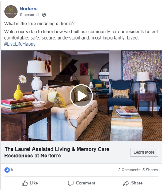 Norterre multigenerational community focuses on creating a comfortable, safe, secure and understanding environment for all residents.